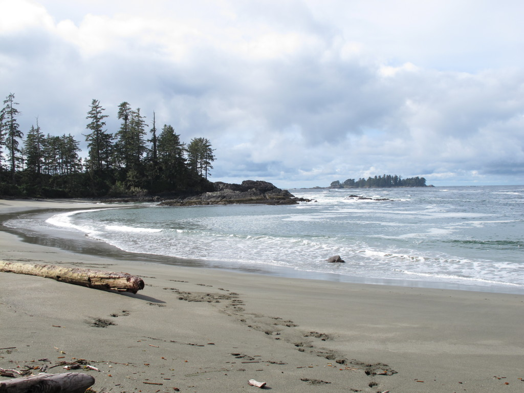 Beach at Halfmoon Bay in Ucluelet