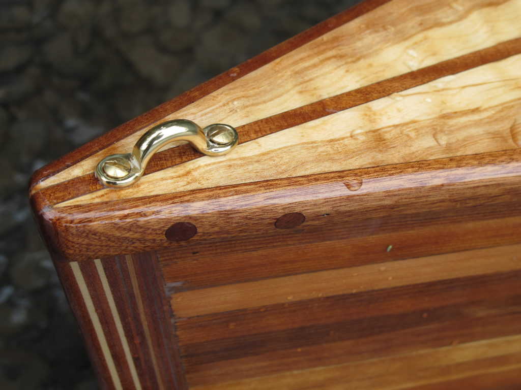 Detail of canoe, bow (forward) deck